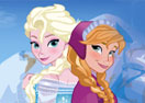 Frozen Sisters Dress Up Game Elsa and Anna