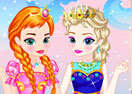 Baby Elsa with Anna Dress Up
