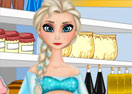 Pregnant Elsa Food Shopping