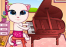 Baby Angela Playing Piano
