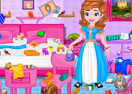 Princess Sofia Messy Bedroom Cleaning