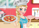 Elsa Cooking Pizza