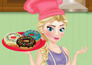 Elsa Cooking Donuts