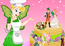 Tinker Bell Fairy Wedding Cake