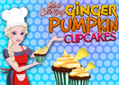 Elsa Cooking Ginger Pumpkin Cupcakes