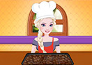 Elsa Cooking Coco Cola Cake