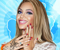 Beyonce Nail And Face Makeover