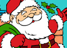 Happy Santa Online Coloring