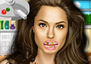 Angelina Jolie at the Dentist