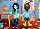 Kids Art Room Cleaning